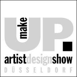 make-up artist design show logo s/w